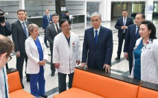 "The Head of State visited ""National Scientific Cardiac Surgery Center"" JSC"