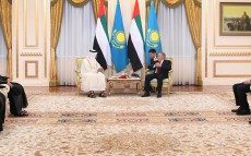 Meeting with Sheikh Mohammed bin Zayed Al Nahyan, the Abu Dhabi Crown Prince, Deputy Supreme Commander of the UAE Armed Forces, who is on official visit in Kazakhstan