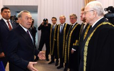 Participation in the ceremony of oath taking by the Court Chairman of Astana International Financial Centre