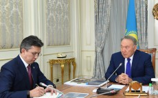 Meeting with Bakhyt Sultanov, Finance Minister