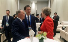 Meeting with British Prime Minister Theresa May on the G-20 Summit fields