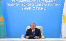 Participation in the expanded meeting of the Nur Otan Party Political Council