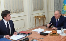 Meeting with Gabidulla Abdrahimov, akim of Shymkent